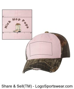 Hick Hop Pops Womens Camo- Boots Hat Design Zoom